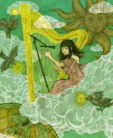 Joanna Newsom in the clouds