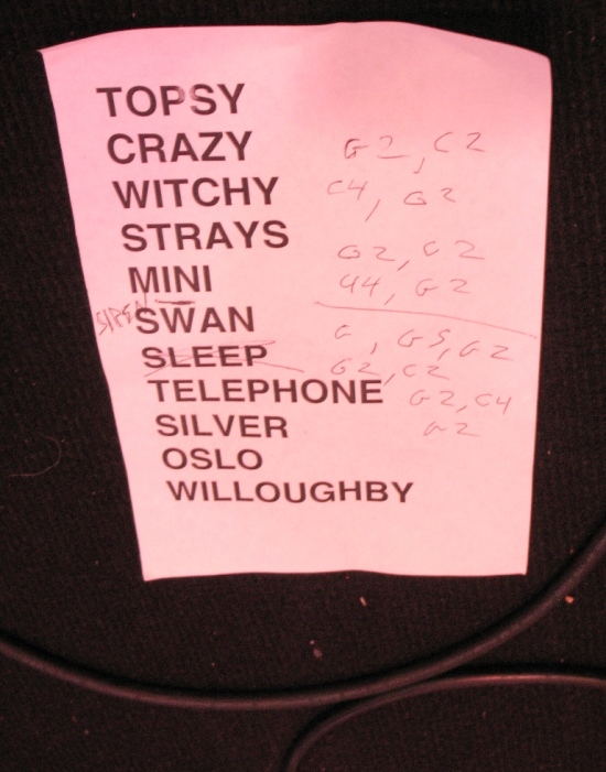Grand Archives Set list