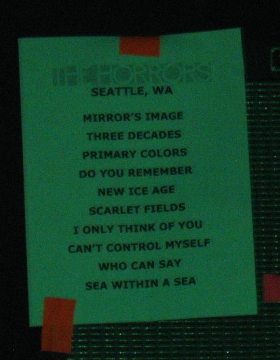 Horrors Setlist